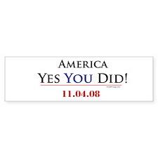 oddFrogg America Yes YOU Did Bumper Sticker