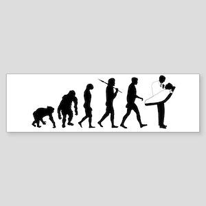 Dentist Evolution Sticker (Bumper)