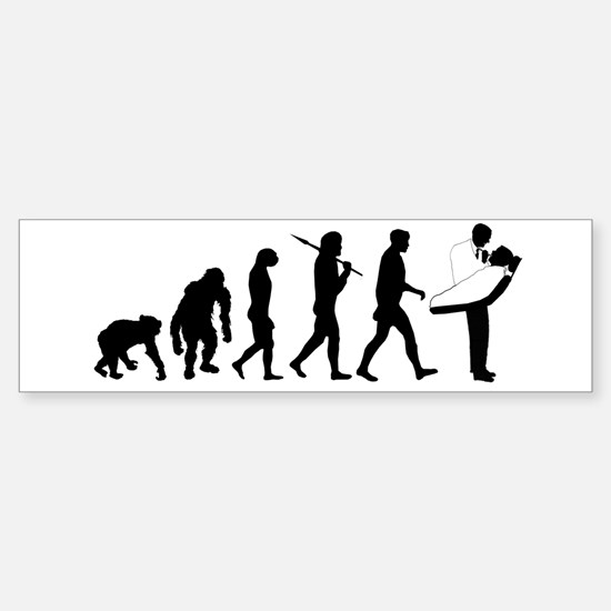 Dentist Evolution Sticker (Bumper)