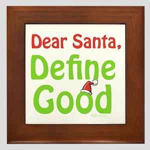 Define Good Santa Framed Tile