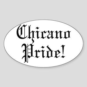 Chicano Pride! Oval Sticker