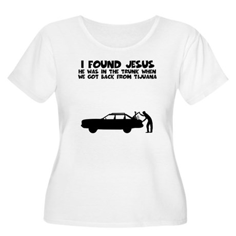 I found Jesus Women's Plus Size Scoop Neck T-Shirt