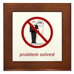 Problem Solved Framed Tile