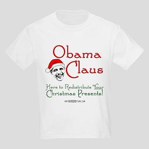 Obama Claus! Kids Light T-Shirt
