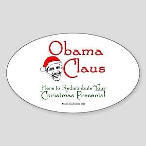 Obama Claus! Oval Sticker