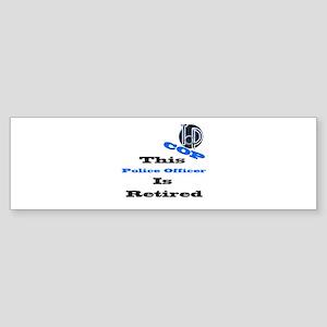 Police Retirement. Bumper Sticker