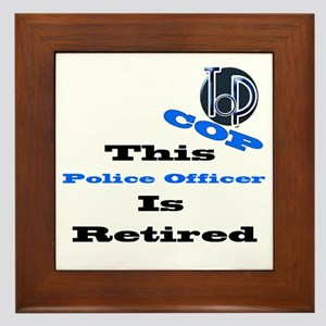 Police Retirement. Framed Tile
