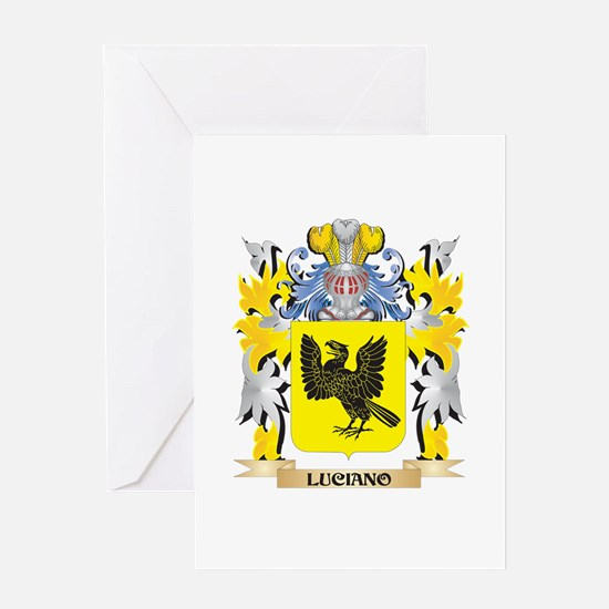 Luciano Coat of Arms - Family Crest Greeting Cards