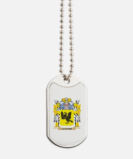 Luciano Coat of Arms - Family Crest Dog Tags