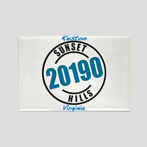 """Sunset Hills 20190"" Rectangle Magnet"