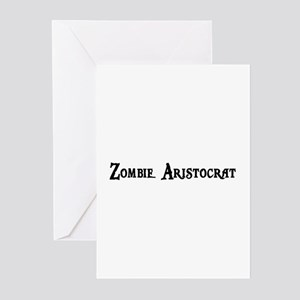 Zombie Aristocrat Greeting Cards (Pk of 20)