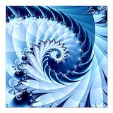 Blue fractal Square Car Magnets