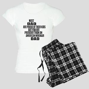 American Wirehair Cat Dad Women's Light Pajamas
