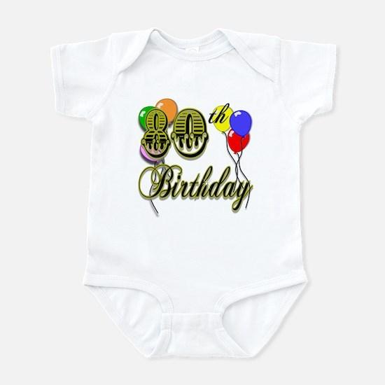 80th Birthday Infant Bodysuit