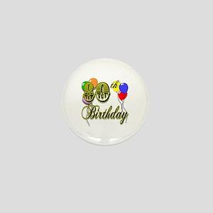 80th Birthday Mini Button