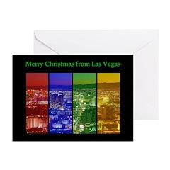 Las Vegas NEON Strip Merry Christmas Cards 10