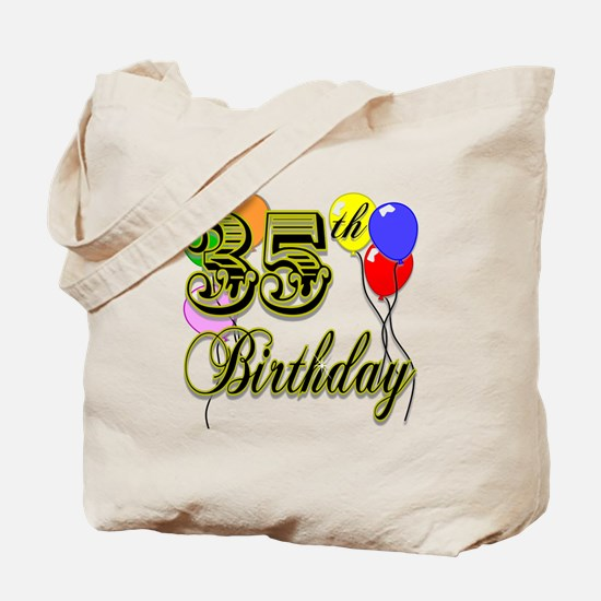 35th Birthday Tote Bag