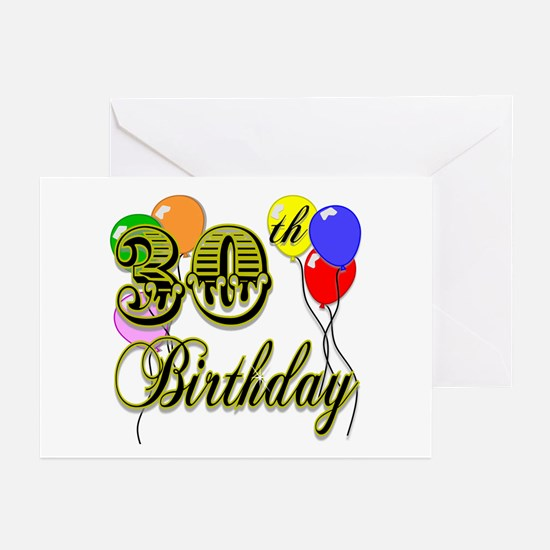 30th Birthday Greeting Cards (Pk of 10)