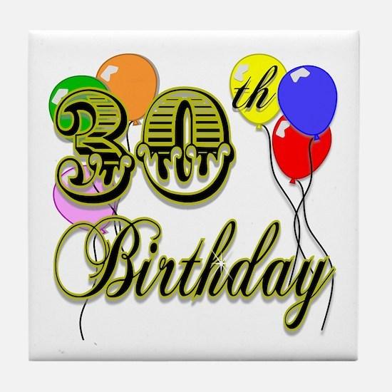 30th Birthday Tile Coaster