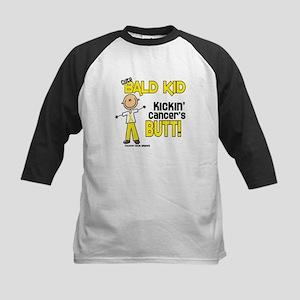 Bald 4 Childhood Cancer (SFT) Kids Baseball Jersey