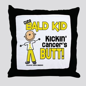 Bald 4 Childhood Cancer (SFT) Throw Pillow