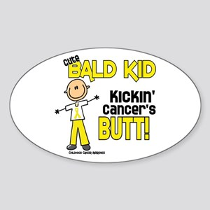 Bald 4 Childhood Cancer (SFT) Oval Sticker