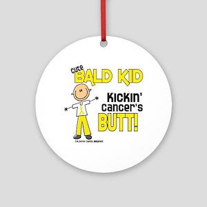 Bald 4 Childhood Cancer (SFT) Ornament (Round)