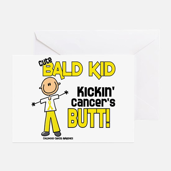Bald 4 Childhood Cancer (SFT) Greeting Cards (Pk o