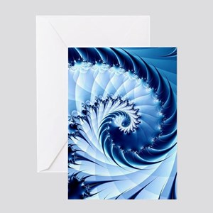 Barbed Blue Greeting Cards