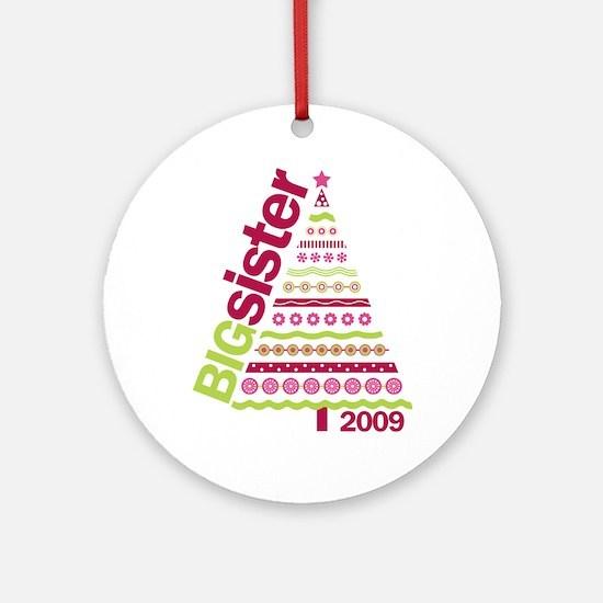 big sister christmas shirt Ornament (Round)