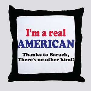 Real American Throw Pillow