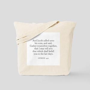 GENESIS  49:1 Tote Bag