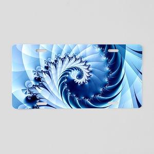 Barbed Blue Aluminum License Plate