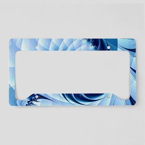 Barbed Blue License Plate Holder