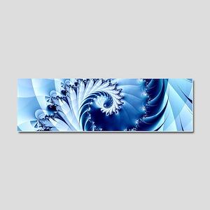 Barbed Blue Car Magnet 10 x 3