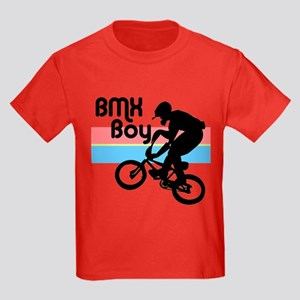 1980s BMX Boy Kids Dark T-Shirt