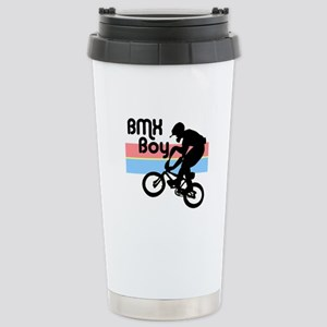 1980s BMX Boy Stainless Steel Travel Mug