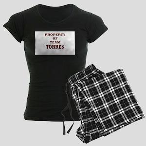property of team Women's Dark Pajamas