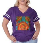 The Rosary Women's Plus Size Football T-Shirt