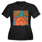 The Rosary Women's Plus Size V-Neck Dark T-Shirt