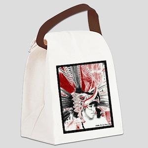 Aztec Eagle Warrior Canvas Lunch Bag
