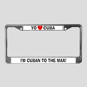 Yo Amo Cuba License Plate Frame