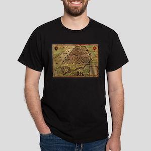 Vintage Map of Antwerp Belgium (1572) T-Shirt
