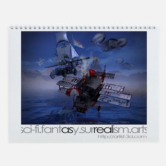 Digital 3D Art 12-page Wall Calendar