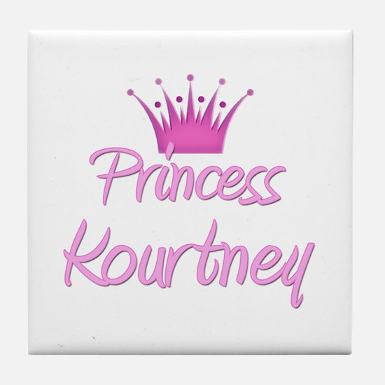 Princess Kourtney Tile Coaster
