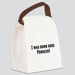 3-I was born here pendeja blk Canvas Lunch Bag