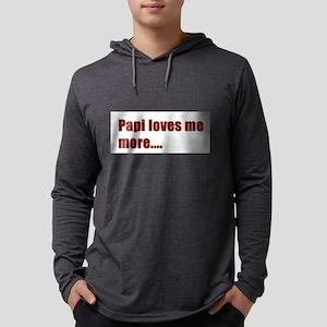 Papi loves me more.... Mens Hooded Shirt