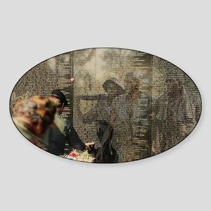 Vietnam Veterans' Memorial Oval Sticker