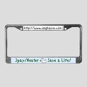 Save a Life! Spay & Neuter License Plate Frame