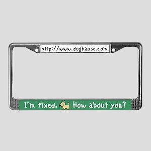 I'm Fixed (Dog) License Plate Frame